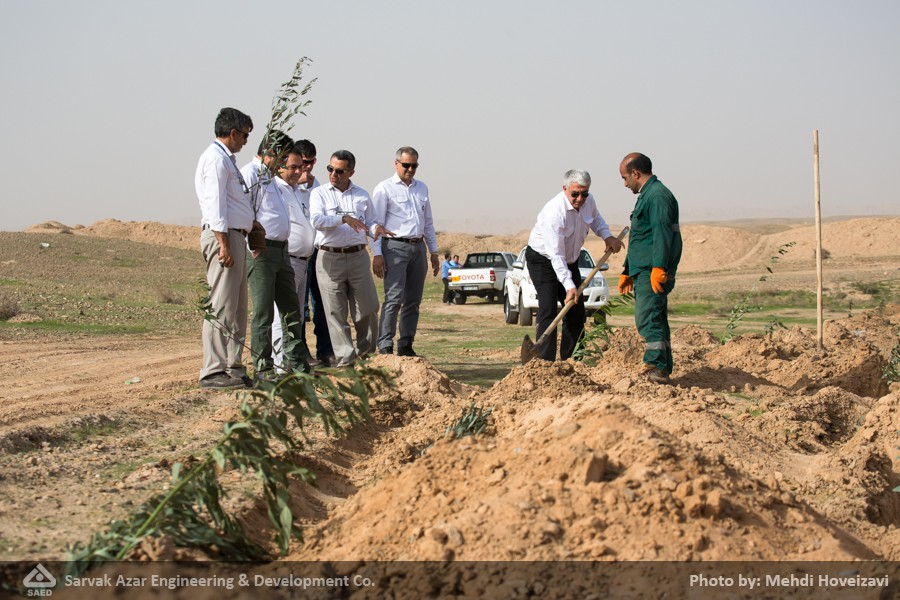 Pictorial Report: Having planted 5000 tree seedlings on National Tree Planting Day, the number of trees planted in this Oil Field has increased to 8400.