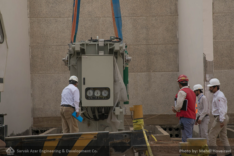 Pictorial Report: Installation of 2 Transformers of 11/6 kV with Power of 15 MVA in Central Processing Facilities