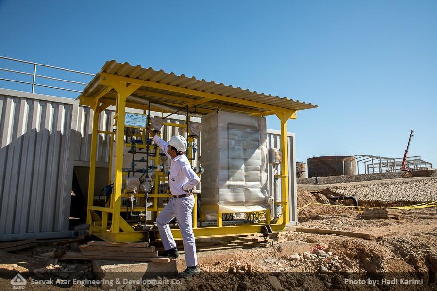 ورود و نصب تجیهیز Sanitary به واحد فرآورش مرکزی
